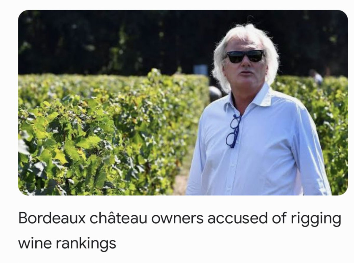 Meanwhile in France. Wine producer, Timothée Martin, appears to be in a spot of bother.