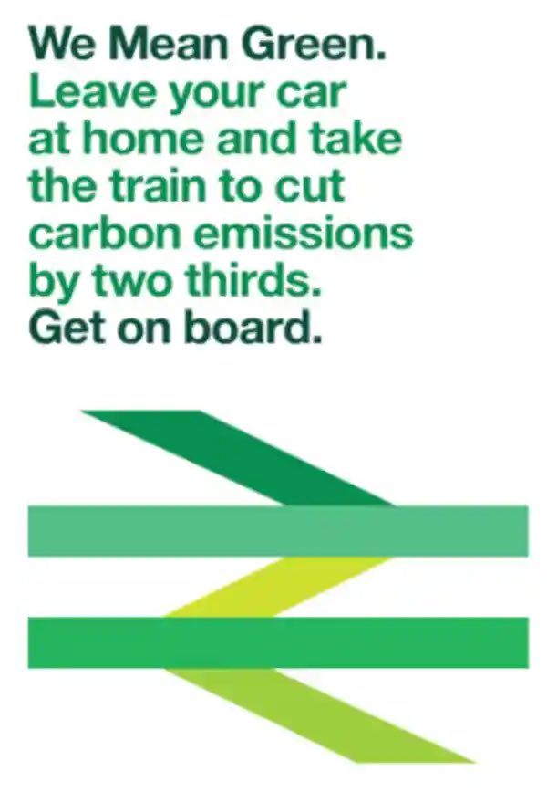 """British Rail: """"we need to add green to our logo to show we're environmentally friendly"""" Designer: """"got it, which shade of green?"""" British Rail: """"yes"""""""