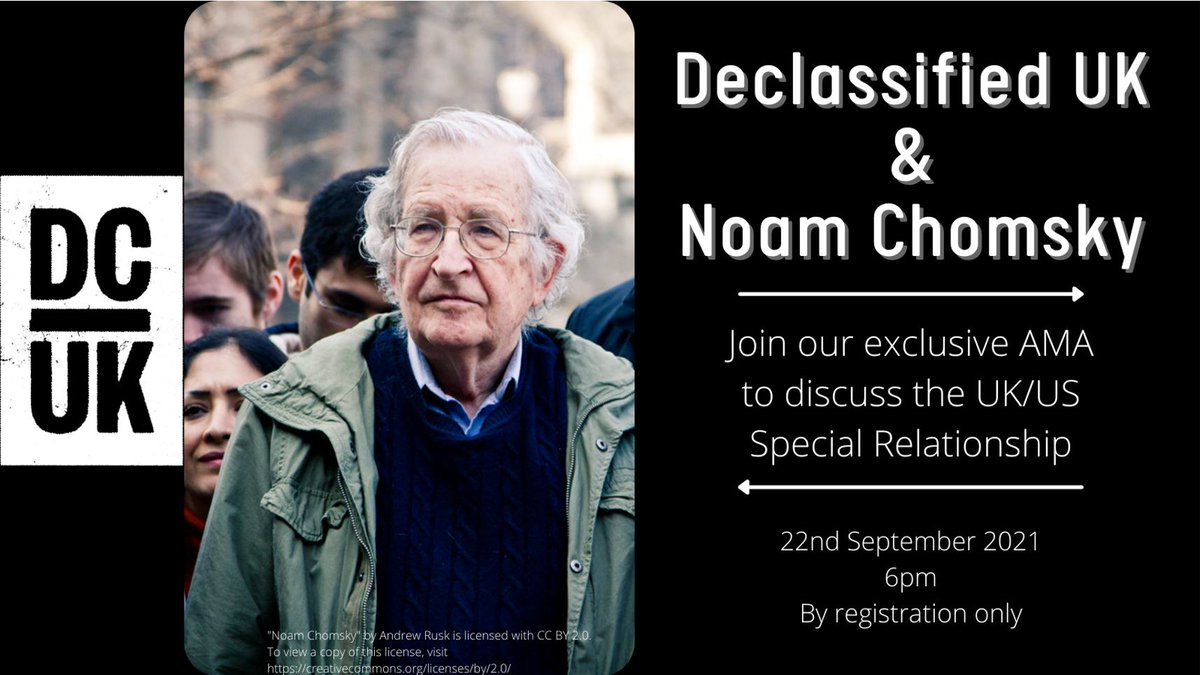 Boris Johnson is in the US. Would you rather read the nonsense tittle-tattle about US-UK relations from the corporate media, or watch and listen to Noam Chomsky on the subject? We thought so. Get your ticket for tonight's special AMA at 6pm UK time here: bit.ly/3lMemE4