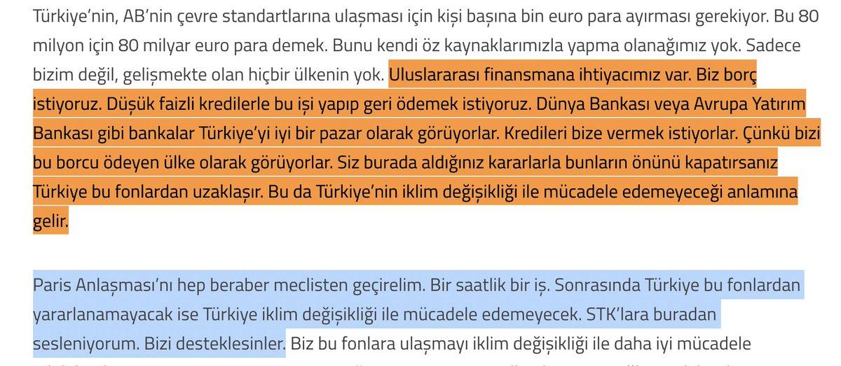 Siz Türkiye Paris İklim Anlaşması'nı onaylayacak diye okuyorsunuz.  Ben 3 Milyar dolarlık ucuz kredi buldular diye okuyorum.