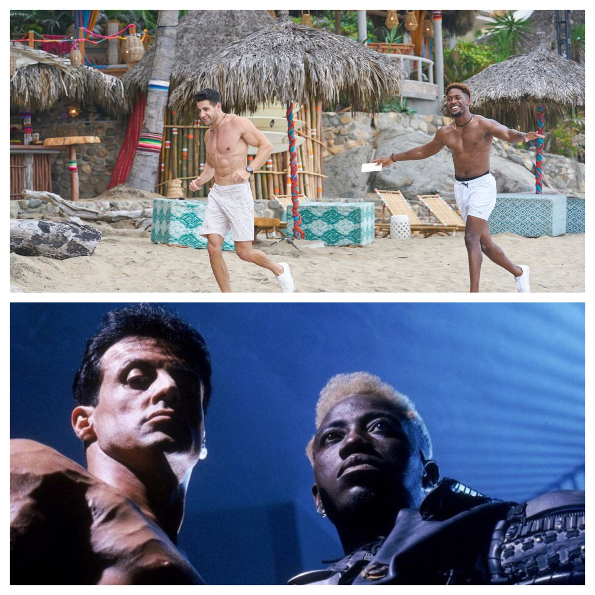 """Did you guys know that Ed and Demar starred in the 1994 cinematic hit """"Demolition Man?"""" @BachParadise https://t.co/ekU1YPBXWD"""