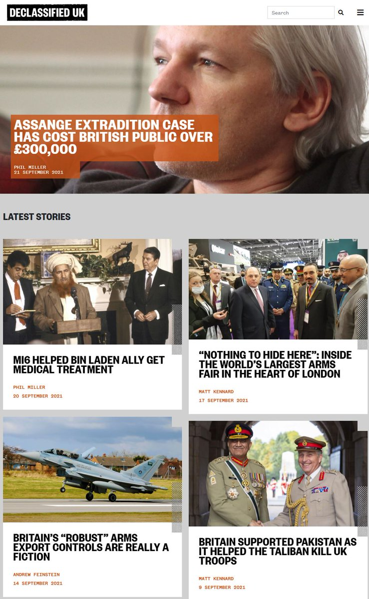 Thanks to the thousands of people who have been checking our new website. It's an emerging public interest resource on what the establishment doesn't want you to see about British foreign, military, intelligence and corporate policies. declassifieduk.org