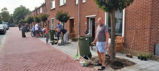Bewoners Schoolstraat De Lier beplanten boomspiegels https://t.co/JjErlUzHd1 https://t.co/KT24dTYmX6