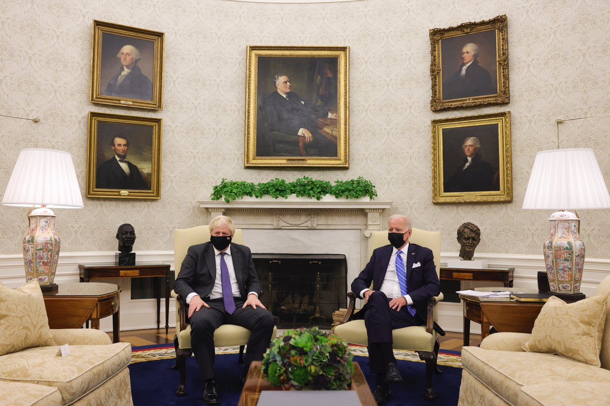 The Prime Minister had his first meeting at the @WhiteHouse since @POTUS Joe Biden took office. Find out more about their discussions ➡️ gov.uk/government/new… 🇬🇧🇺🇸