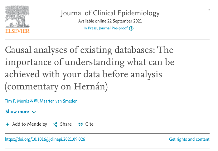 Another commentary/response highlighting the importance of thinking about sample size (before analysis) in causal analyses 👏 tinyurl.com/atxhwy8x