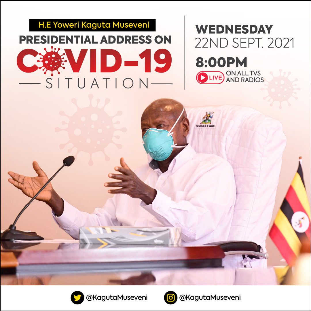 Elders (Abakadde), comrades, and abazukulu, I will be addressing the nation later today regarding the COVID-19 situation. Ensure to tune in. (The old man with a hat)
