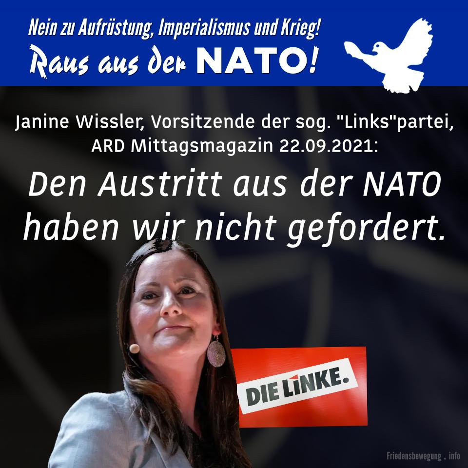 Linke geht auf Distanz zur Friedensbewegung - den Austritt aus der NATO haben wir nicht gefordert