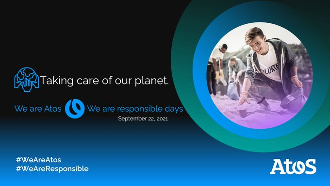 🌍 Today is Day 2 of our #WeAreAtos #WeAreResponsible, which's theme is 'taking care...