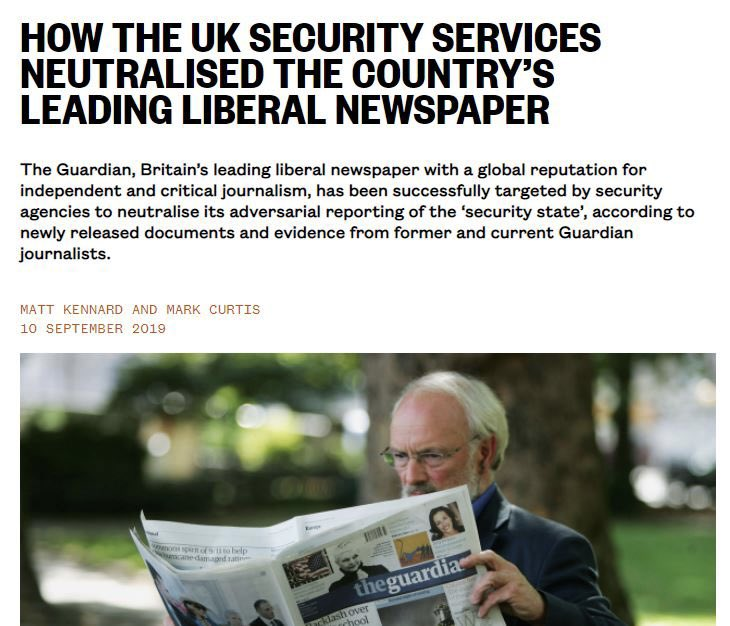 Outside of the mainstream, there is high quality independent journalism happening in the UK This week @declassifiedUK launched its website: a important information resource declassifieduk.org See also @BylineTimes, @DoubleDownNews, @openDemocracyUK & @allthecitizens etc.