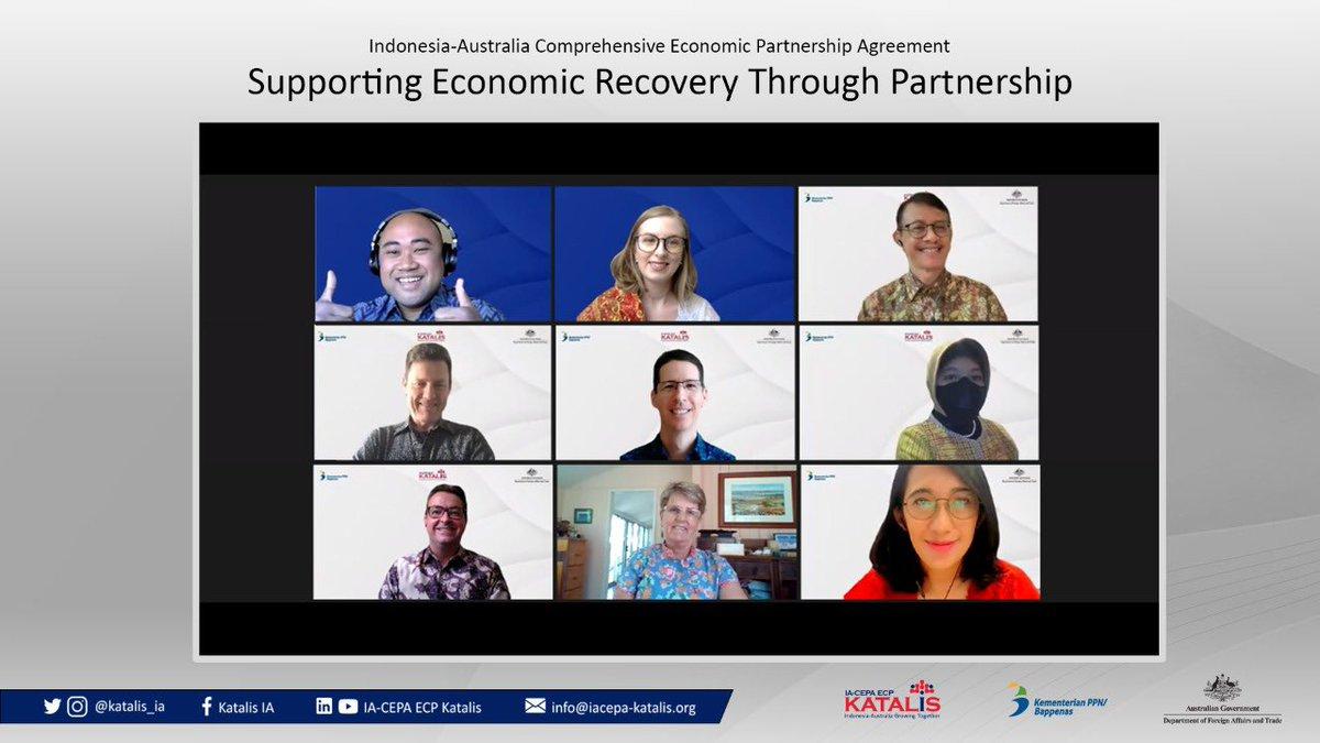 """Terima kasih kepada seluruh panelis dan peserta dialog """"Mendukung Pemulihan Ekonomi Melalui Kemitraan"""" 🇮🇩🇦🇺. Klik di sini untuk video lengkapnya https://t.co/f5tHBW7YEr https://t.co/F018kP0UHd"""