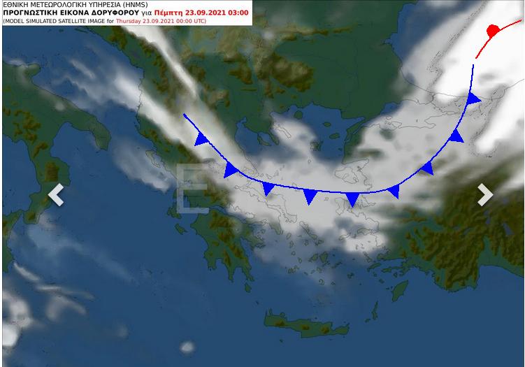 Το ψυχρό μέτωπο που θα διέλθει πάνω από την χώρα μας πέραν της σημαντικής πτώσης της θερμοκρασίας είναι πιθανόν να προκαλέσει έντονες βροχοπτώσεις στην #Εύβοια @EMY_HNMS @GSCP_GR @News247gr @Starchannelnew1 hnms.gr/emy/el/forecas…