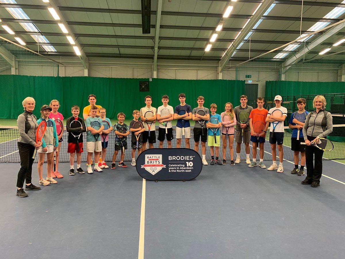 Breakfast Club tennis session at the Aberdeen Tennis Centre as part of our community programme in partnership with @BrodiesLLP 💯🎾🏆@JudyMurray @Sportaberdeen #battleofthebrits