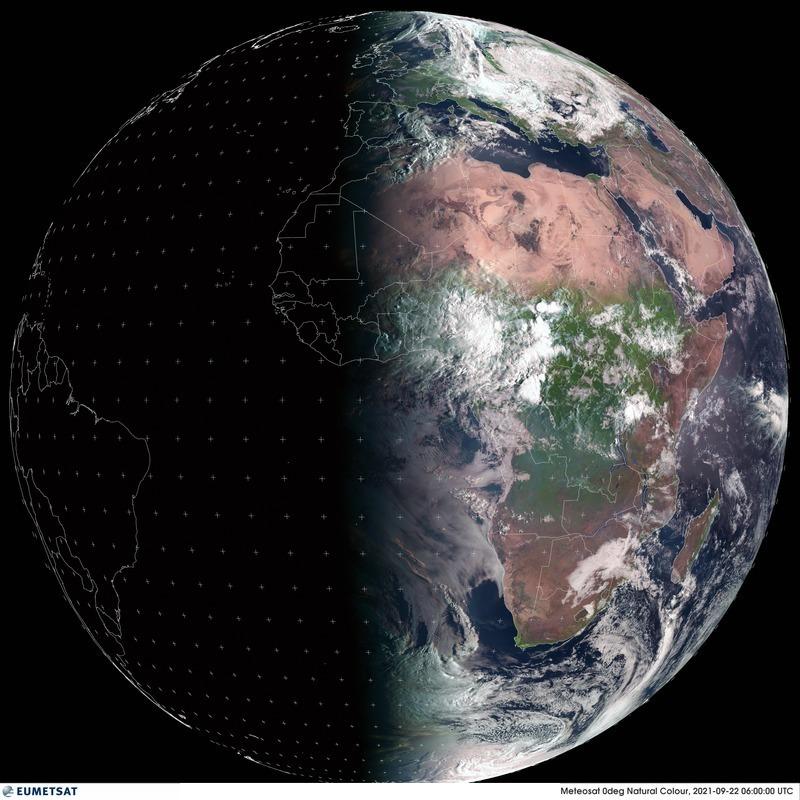 Ce mercredi à 21h20 (19h20 UTC) se produira l'#équinoxe d'#automne dans l'hémisphère nord. Image satellite @eumetsat à 6h UTC ce matin.