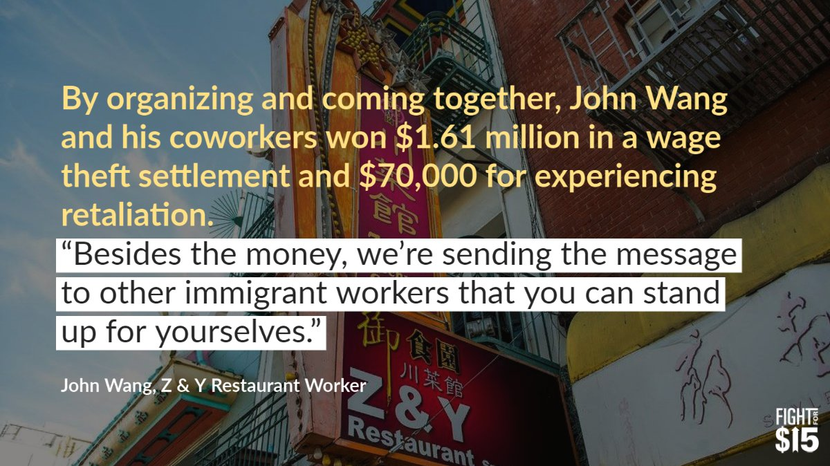 No matter your race, job, zip code or citizenship status: you deserve respect, a safe workplace and a living wage. #FightFor15 yhoo.it/3zB4xhm