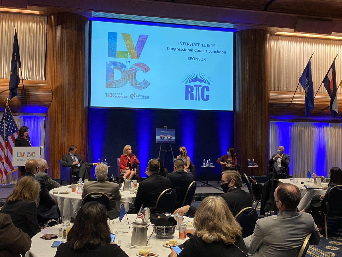 We're proud to have nevadadot Director Kristina Swallow be a leading voice on the future of I-15 and I-11.   Thanks to SHillforVegas, MJMaynardSNV, GretaTweeted and tldean11 for exploring multimodal solutions to help us achieve Nevada'South transportation goals. #LVChamberinDC