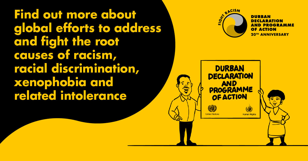 """Watch live: High-level meeting on """"Reparations, racial justice & equality for people of #AfricanDescent"""" in commemoration of the 20th anniversary of the Durban Declaration. #FightRacism media.un.org/en/asset/k17/k…"""