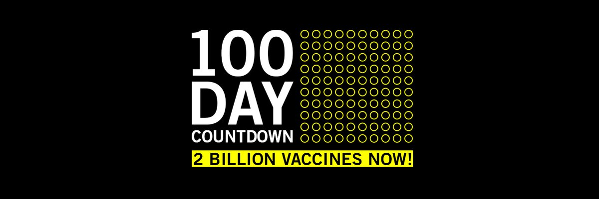 There are 100 days until the end of 2021. We join @amnesty in challenging @AstraZeneca @BioNTech_Group @JNJNews @moderna_tx @Novavax @pfizer to deliver 2 billion vaccines to those who need them the most, by the end of the year. Do what's right. #100DayCountdownAlarm ⏰