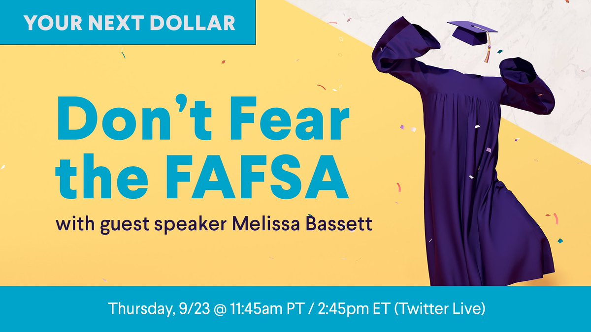 test Twitter Media - It's the time of year when college students (and future college students!) work with their parents to fill out the Free Application for Federal Student Aid, or #FAFSA. Tune into this week's Your Next Dollar to hear why you should apply ASAP. https://t.co/TJwLqm8Inq