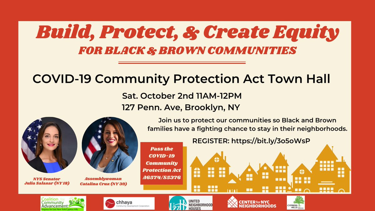 While real NYC families are struggling, real estate investors are getting rich through flipping & cash buying of small homes in NYC neighborhoods. Join us for a town hall on Oct 2nd to PASS The COVID-19 Community Protection Act: bit.ly/3o5oWsP