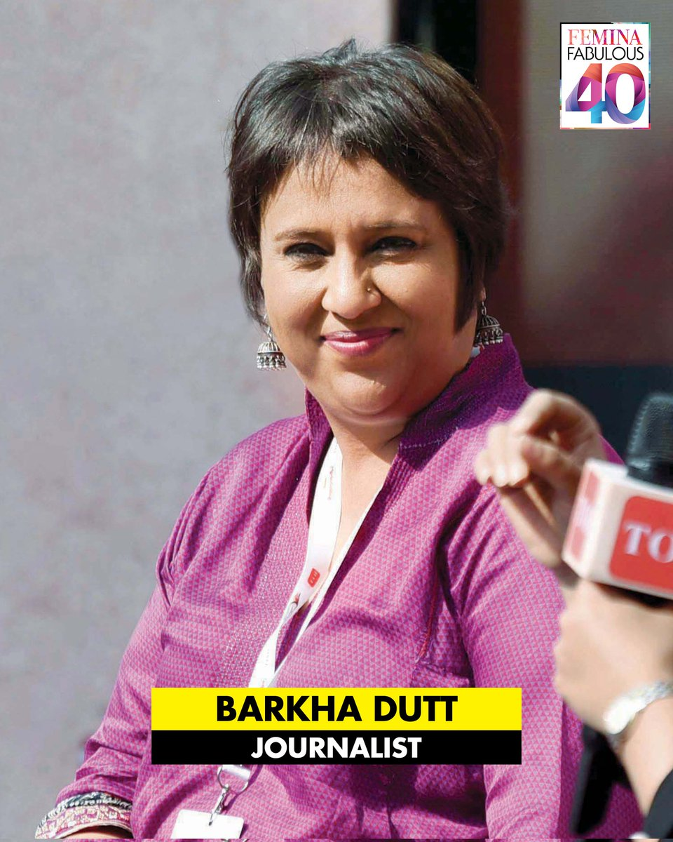 @FeminaIndia: #FeminaFab40: With over 2 decades of experience, @BDUTT has been an inspiration for a generation of young women. She is one of the pioneers of TV journalism in India. She joins 39 incredible women who've made a difference with their work in 2021 in our latest issue!