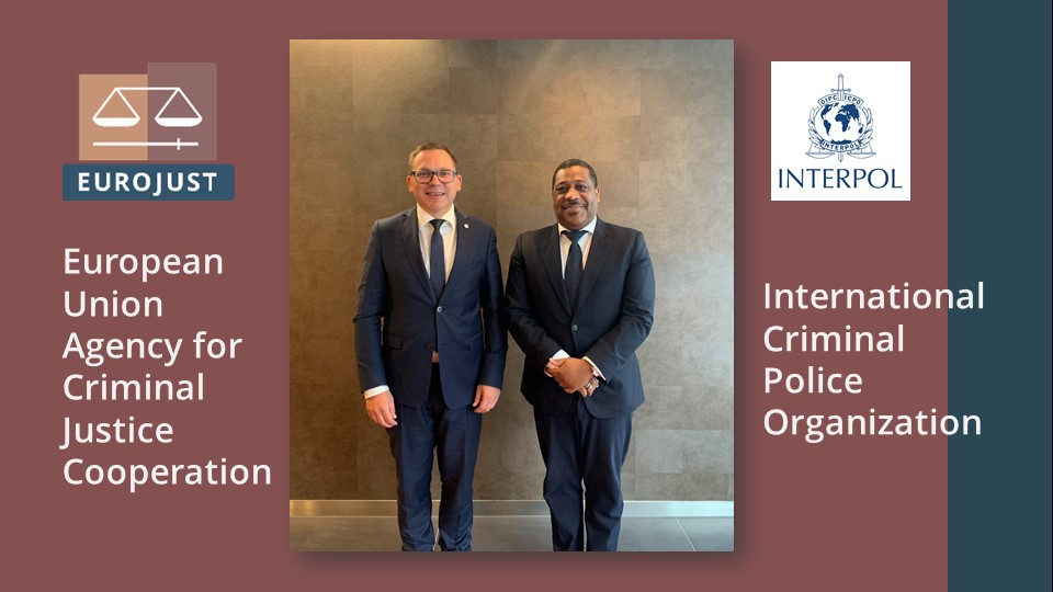 🔗 Strengthening our ties with @INTERPOL_HQ: Today, #Eurojust President Ladislav Hamran met with Pierre St. Hilaire, #Interpol Special Representative to the EU. Reinforcing our existing strategic cooperation will also reinforce the fight against transnational crime in 🇪🇺 & 🌍.