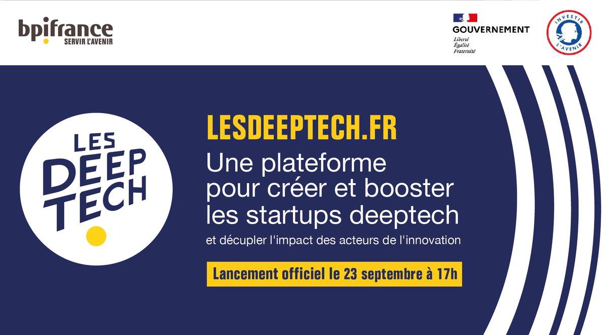 Entrepreneurs, #lesDeeptech vous dévoilent leur nouveau site demain à 17 h ! ! 🚀  À l'occasion de ce lancement, rendez-vous en live sur Twitter et YouTube 👉 https://t.co/Yx96zMZ6LU
