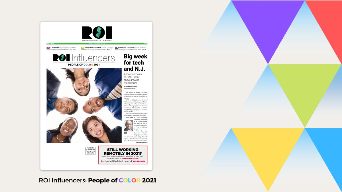 """Congrats to our leaders recognized among the """"Difference Makers"""" on @ROINJNews' 2021 Influencers: People of Color list: Exec. Vice Presidents Dr. Paul Alexander (Chief Health Equity and Transformation Officer), Indu Lew (Chief Pharmacy Officer)..."""