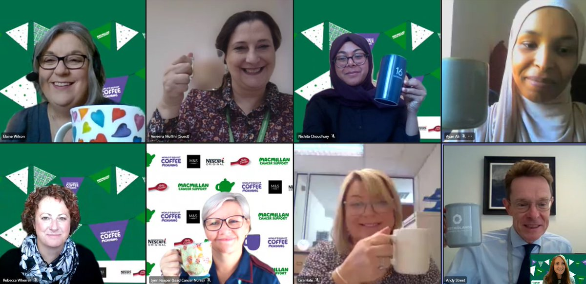 West Midlands Mayor Andy Street has today raised a mug in support of #MacmillanCoffeeMorning. A BIG thank you to @andy4wm, @Amy21571, @GreenLaneMasjid, @reaper_lynn @UHBCancer and @relatebrum for sharing your great work with us to support people living with cancer @MacmillanWMids