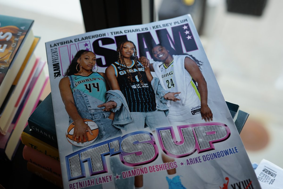 This is so dope!!!! Super proud to be part of the first ever @wslam magazine dedicated to the WNBA. Seeing black women on the cover is a salve for the MF'n soul! The giddiness and joy picking up this magazine brought me is unmatched.