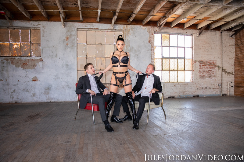 'Watch @ANGELAWHITE's dark side ignite as @jordanjordan slides into her pussy while @markusdupree is anchoring her asshole in reverse-cowgirl DP.' >> bit.ly/GoonerAnal