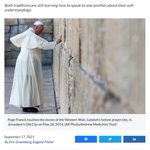 Image for the Tweet beginning: A pope, two rabbis and