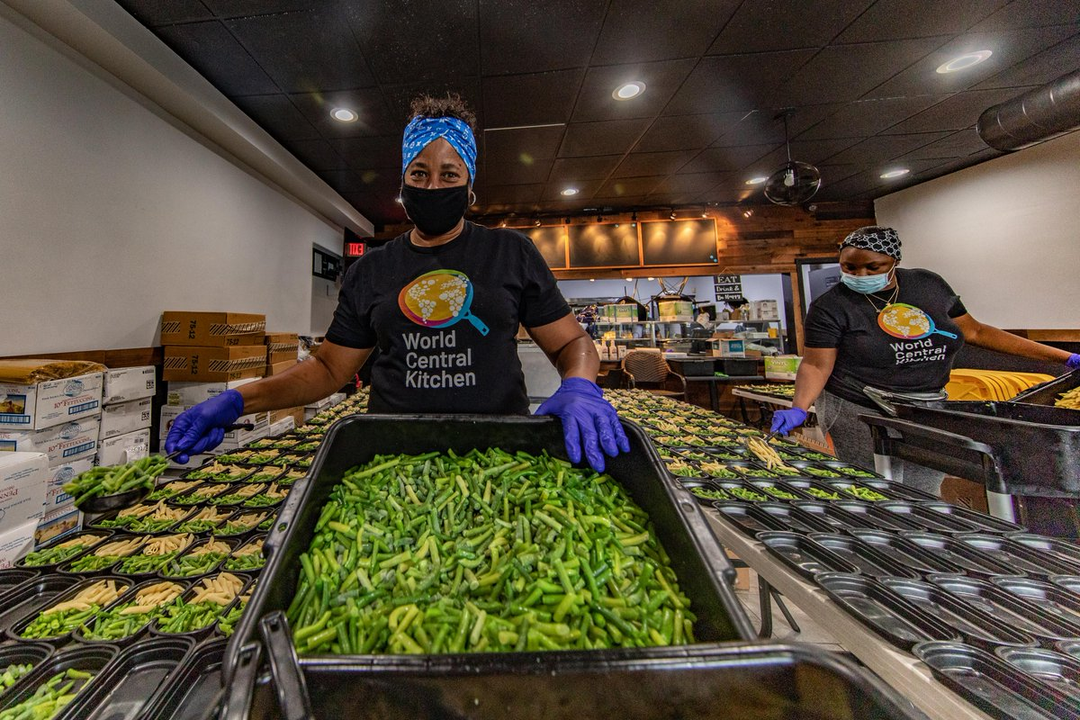 We donated $1 million to assist our neighbors with relief efforts in the wake of Hurricane Ida, including $100,000 to @WCKitchen to provide nourishing meals for communities in need (pictured here).Learn more: https://bit.ly/3u0vpWR