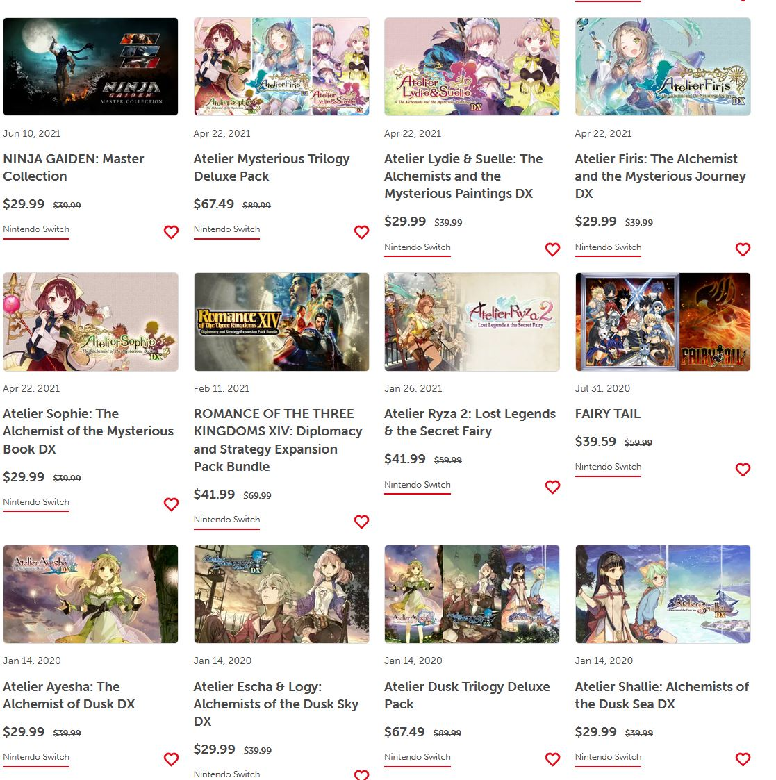 (PCDD) Koei Tecmo Publisher Sale via eShop.