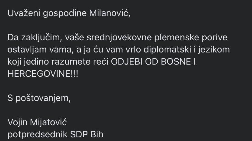 Vojin Mijatović: Milanović je luđak! Komšić: Milanović je gori od Vučića! E_68QpFVUAgI2EL?format=jpg&name=900x900
