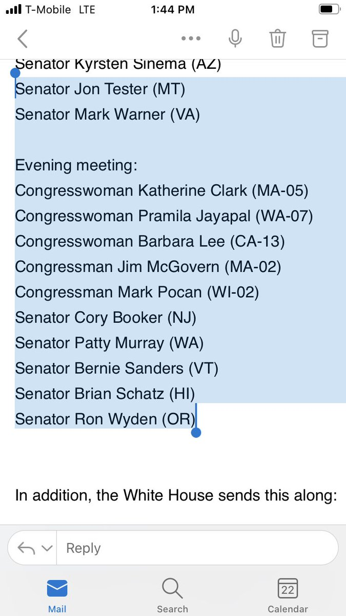 Meanwhile, here is the president's meeting with progressives later in the day. @RepJayapal said President Biden called her last night after her appearance on @maddow to have the meeting