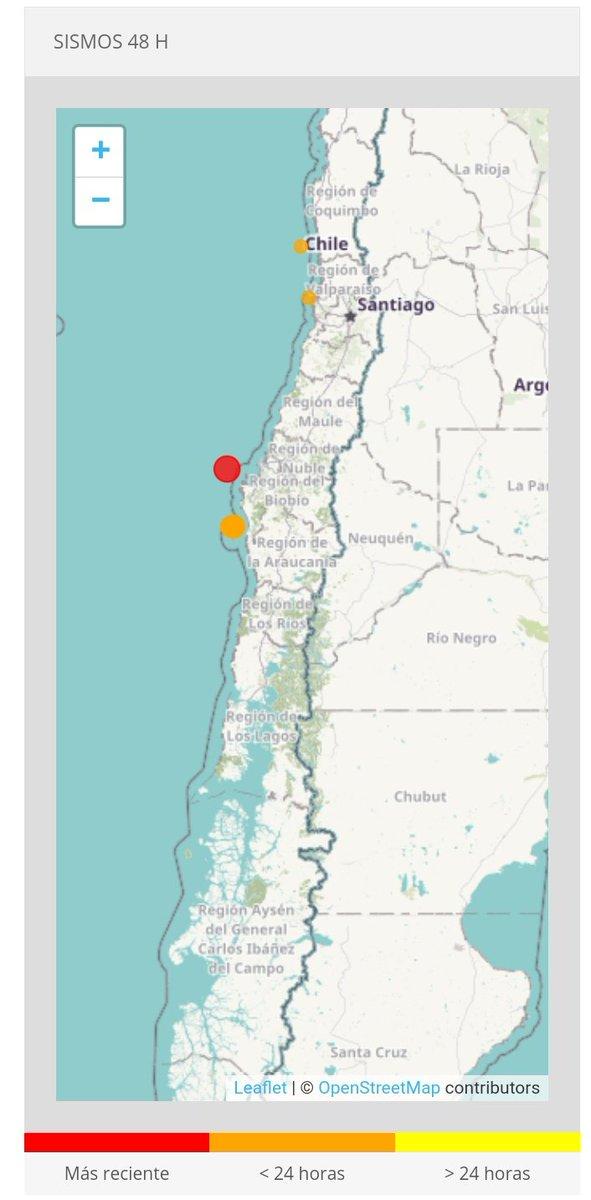 "RT @RneRadio ""Informe de sismo Hipocentro Hora Local14:42:02 22/09/2021 Hora UTC17:42:02 22/09/2021 Latitud-36.89 Longitud-74.04 Profundidad15.1 Km Magnitud5.0 Mw Referencia76 km al NO de Arauco"" F: CSN. @reddeemergencia @RNE_BIO_BIO @RNE_San_Antonio @RNE_Maule_ @RNEAraucania"
