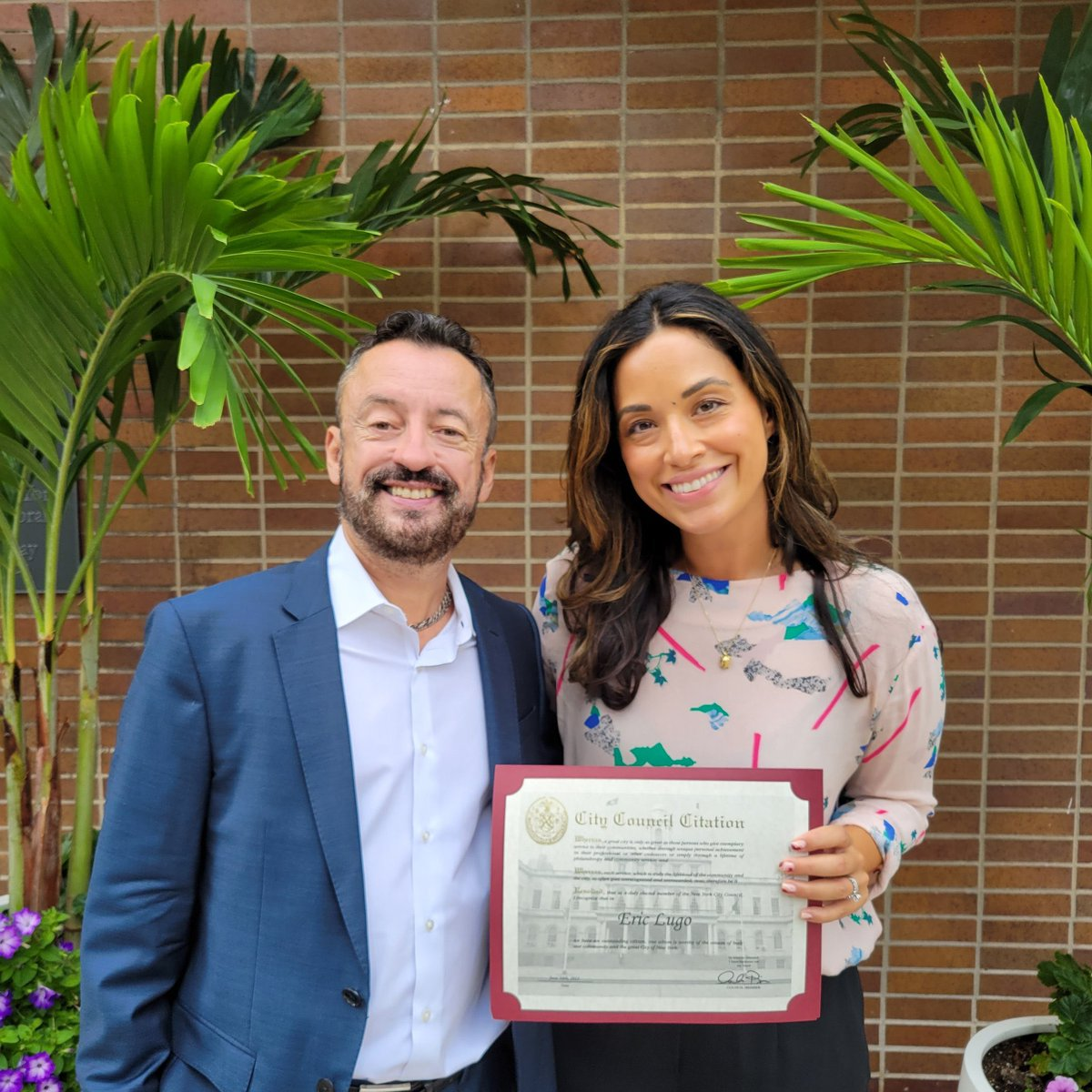Had the absolute pleasure to present @EricLugo47 with a Council citation for his decades of service in government, activism and at @BaruchCollege. Excited for his next chapter!