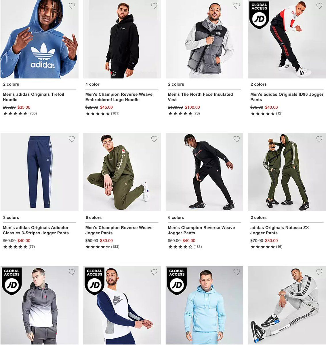 Save an extra 50% off fall apparel styles with code FALLFIT50  Works on all items here -