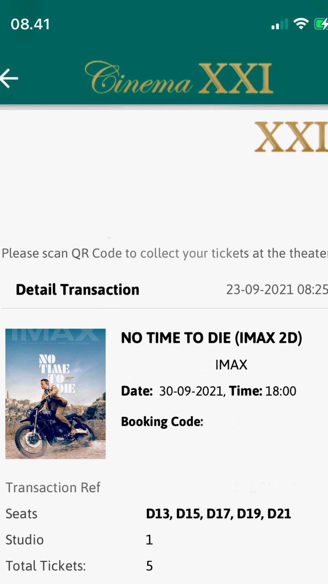 Finally #NoTimeToDie @cinema21 https://t.co/FcwiYKm14i
