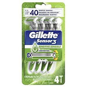 Gillette Sensor3 Sensitive Men's Disposable Razor $5.29  at