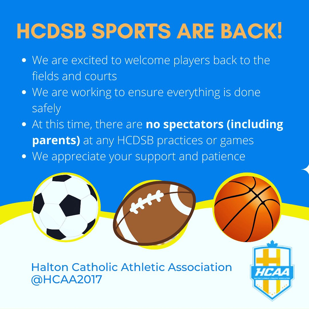 Huge thank you to everyone who worked tirelessly to make this happen!! It's been uplifting to see so many excited student-athletes [safely] populate the gyms/field again @Director_HCDSB @HCDSB @BishopReding @Principal_BR @HCAA2017