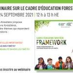 Image for the Tweet beginning: Le Cadre d'éducation forestière d'APLA
