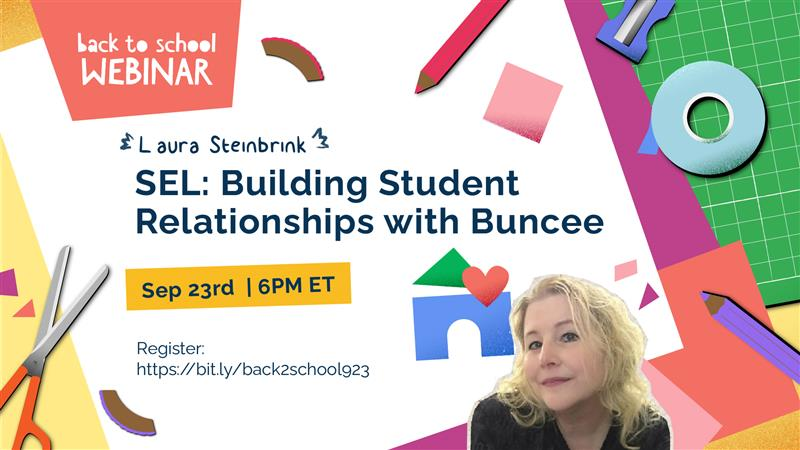It's tonight!  I cannot wait to hear from Laura about #SEL!  Join this amazing webinar! #Buncee #NYSCATE