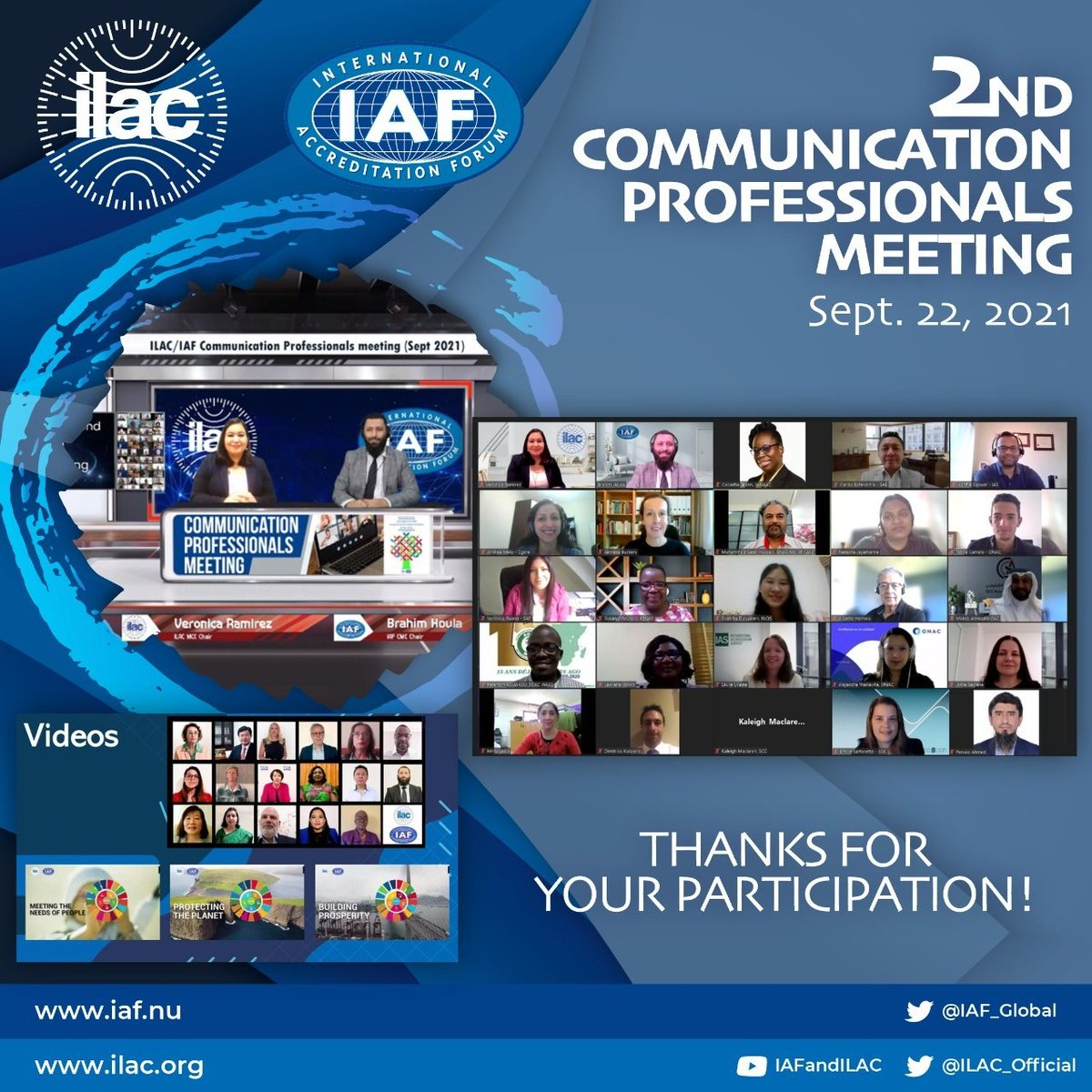 Image for the Tweet beginning: The @ILAC_Official and @IAF_Global Joint