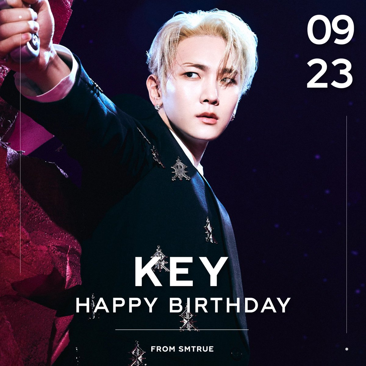 RT @SMTrueThailand: #HappyKEYDay 🎂🎉  23.09.2021  สุขสันต์วันเกิด 'KEY' 💎  #KEY #키 #SHINee #샤이니...