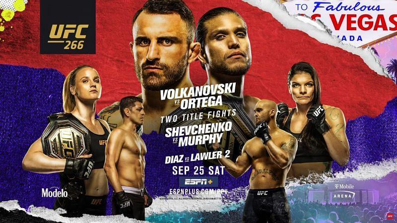 UFC 266 EN VIVO