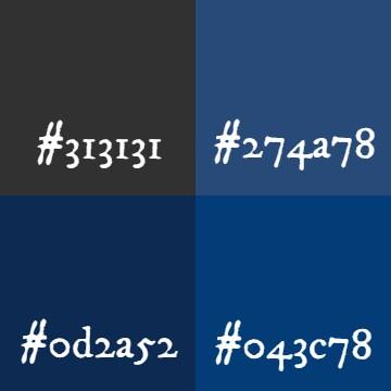 #アズレン阿波藍 以来、藍色にハマり... フォントカラーにこだわりだしたw 墨色もいいけど、藍色もw...