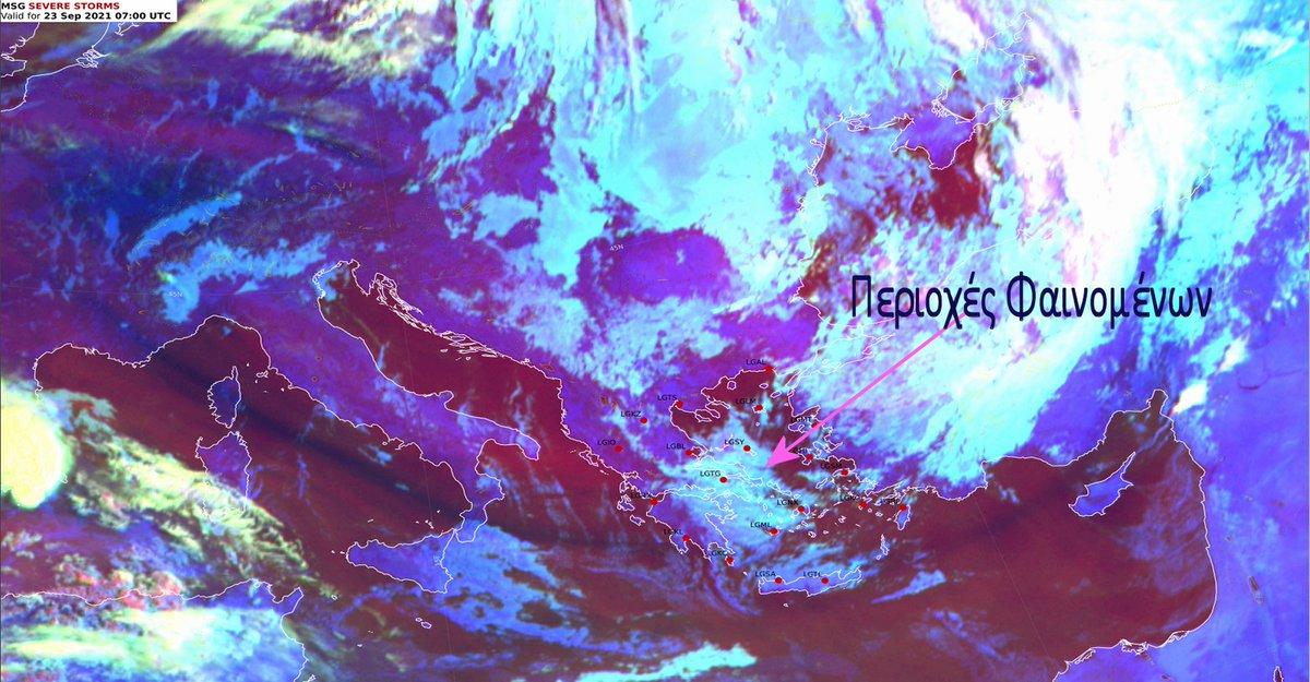 Από #Θεσσαλία και νοτιότερα στην ανατολική Ελλάδα εκδηλώνονται φαινόμενα με σταδιακά μειούμενη την έντασή τους. Κατά τη διάρκεια της νύχτας μέχρι και το πρωί της Πέμπτης οι #βροχές ήταν τοπικά έντονες σε #Σποράδες , #Μαγνησία και #Εύβοια @EMY_HNMS @News247gr @Starchannelnew1
