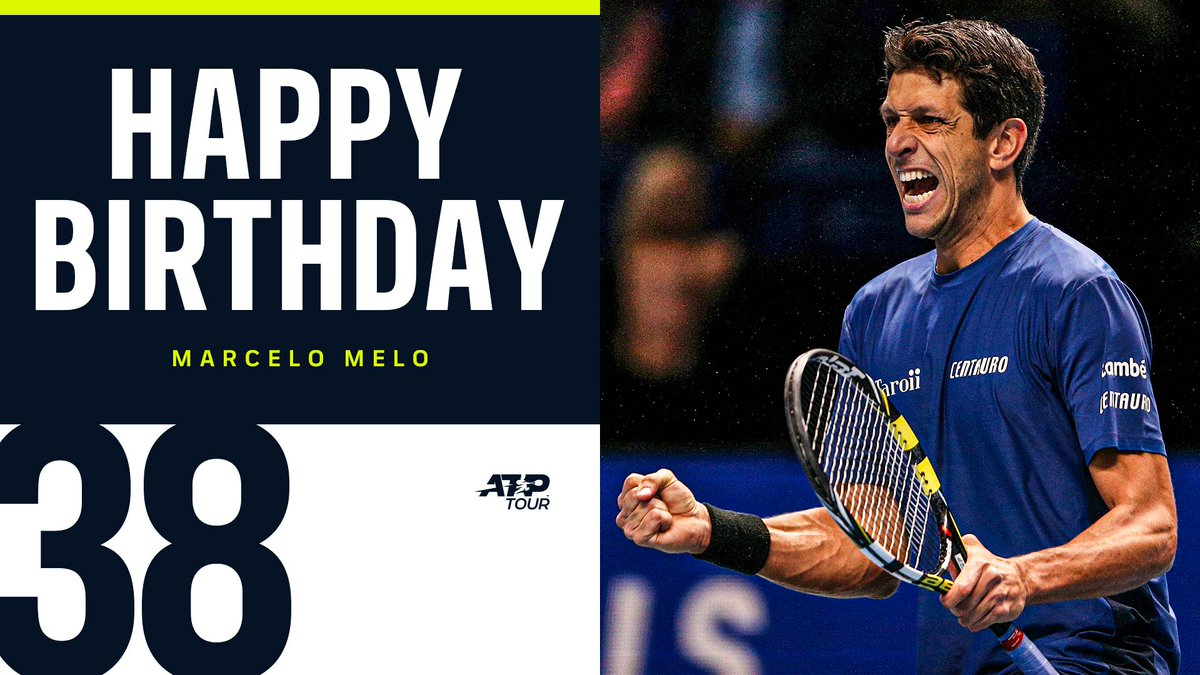 🎾 2015 Roland Garros & 2017 Wimbledon men's doubles champion 🎾 Reached No. 1 in the @FedEx ATP Doubles Rankings 🎾 35 tour-level doubles titles 🎾 2014 & 2017 #NittoATPFinals doubles finalist Happy Birthday to 🇧🇷 @marcelomelo83! 🎉🎈