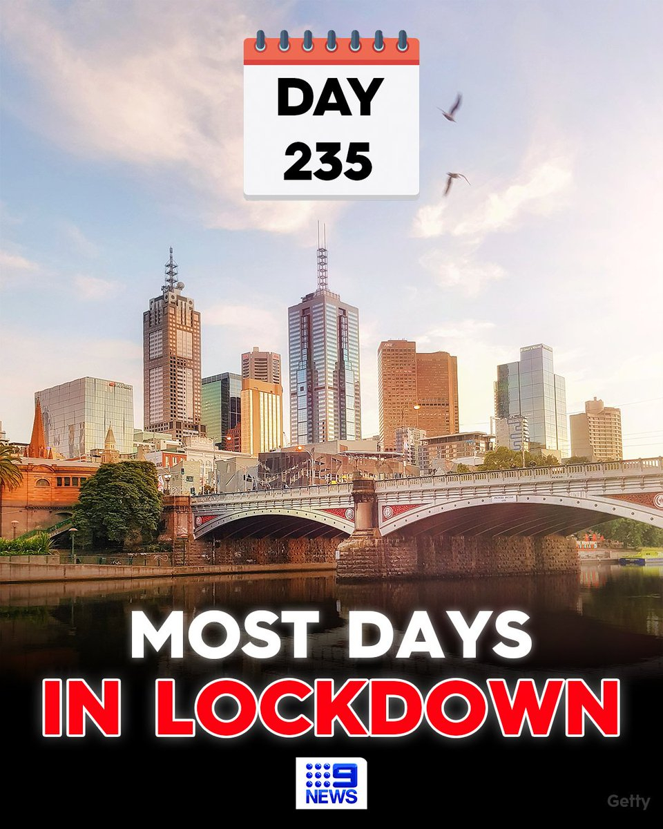 Melbourne, Australia hits 235 days in strict lockdown. Yet even today, many normies continue to believe that a few weeks of strict lockdown will eliminate COVID entirely. That is the power of the original lie the CCP told in Wuhan, setting the narrative for everything to come. https://t.co/EB6KTcYGhr